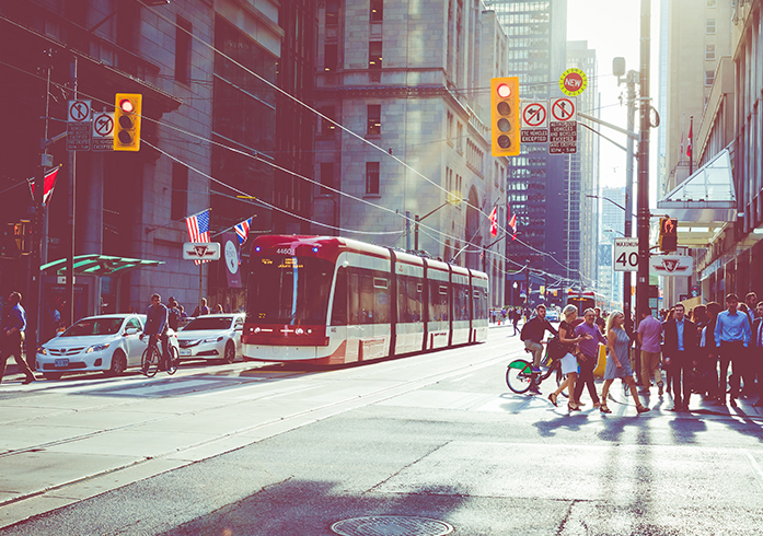 Rush hour at Toronto's busiest intersections.